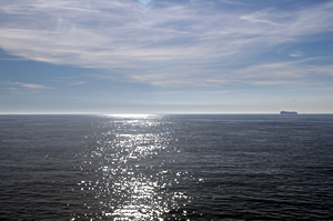 Avoid sea sickness by keeping the horizon in view, but don't stare at it